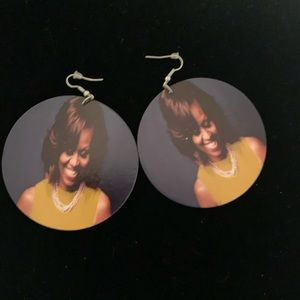 Light weight, wood photo inspired earrings